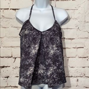 Lucy Ruffle Yoga Top, Size S